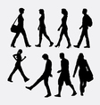 People walking silhouette vector image vector image