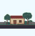 pixel art scene vector image vector image