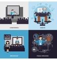 Public Speaking Flat Set vector image