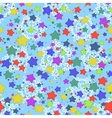 Seamless pattern stars and snowflakes vector image vector image