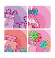 set of candy frames vector image