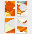 set of geometric shape diamond abstract templates vector image vector image