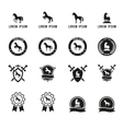 Set of horse or equestrian labels and signs vector image vector image