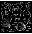 set white summer sketches hand drawn in pencil vector image