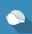 silhouette of seashells vector image