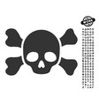 skull and bones icon with people bonus vector image vector image