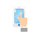 smartphone technology communication in the man vector image vector image