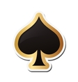 spade card icon vector image vector image