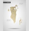 stylized bahrain map vector image