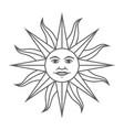 sun inca sign vector image