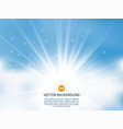 sun with rays sunny background vector image vector image