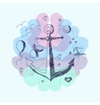 The concept of anchoring effect vector image vector image