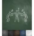 three businessman icon Hand drawn vector image vector image