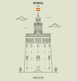 torre del oro in seville spain vector image vector image