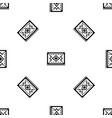 turkish carpet pattern seamless black vector image vector image