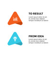 up stairs arrows infographic diagram chart vector image vector image