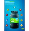 vitamin complex template vector image vector image