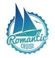 water cruise logo design - yacht travel banner vector image vector image