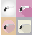 weapon flat icons 16 vector image vector image