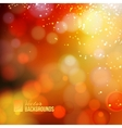 Yellow shine background vector image vector image