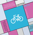 Bicycle icon sign Modern flat style for your vector image