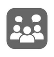 people talking icon one of set web icons vector image