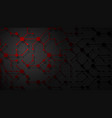 abstract background connecting lines and dots vector image
