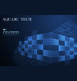 abstract blue square technology decoration vector image vector image