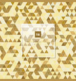 abstract golden geometric triangle pattern vector image