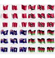 Bahrain Trinidad and Tobago Turks and Caicos vector image vector image
