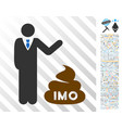 businessman show imo shit flat icon with bonus vector image vector image