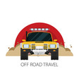 car front view off-road vehicle travel vector image vector image