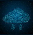 cloud synchronization global structure data vector image vector image