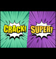 comic book page colorful concept vector image vector image
