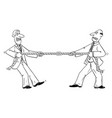 comic cartoon two businessmen or business vector image