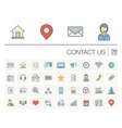 Contact us and Communication color icons vector image vector image