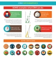Crm Infographics Set vector image vector image
