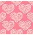 cute vintage pink heart pattern vector image vector image