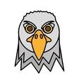 eagle head face icon vector image vector image
