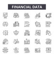 financial data line icons for web and mobile vector image vector image