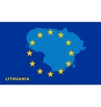 Flag of European Union with Lithuania on vector image vector image