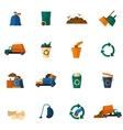 Garbage Icons Flat vector image vector image
