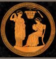 greek women vector image vector image