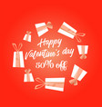 happy valentines day handwritten text vector image vector image