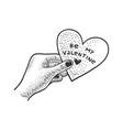heart valentine day sketch vector image