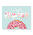hello summer cartoon ice cream letters cute vector image vector image