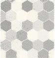 hexagon geometric pattern seamless halftone vector image vector image