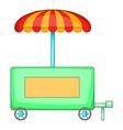 Hot dog trailer icon cartoon style vector image vector image