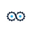 infinite gear logo icon design vector image vector image