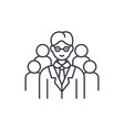 leading top manager line icon concept leading top vector image